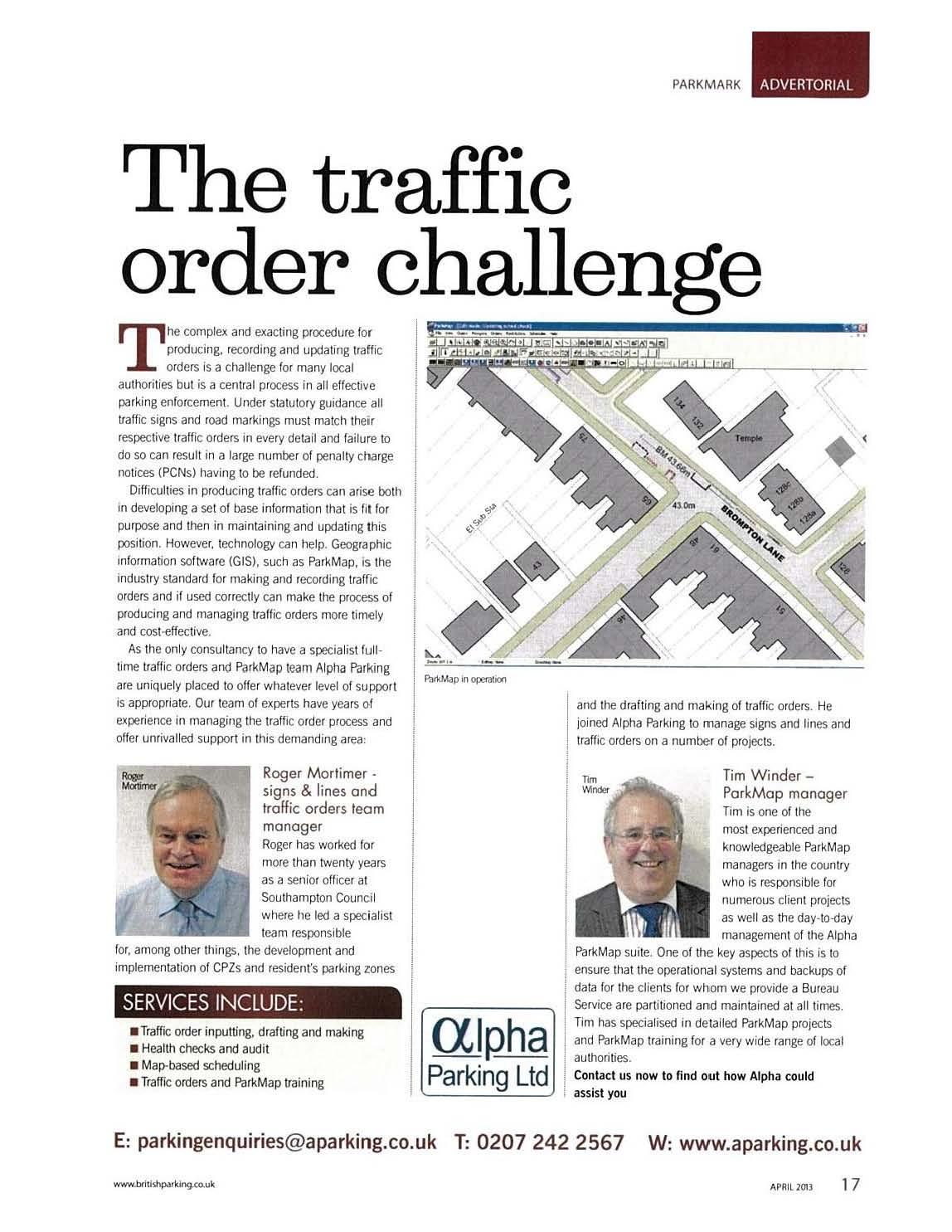 traffic order challenge
